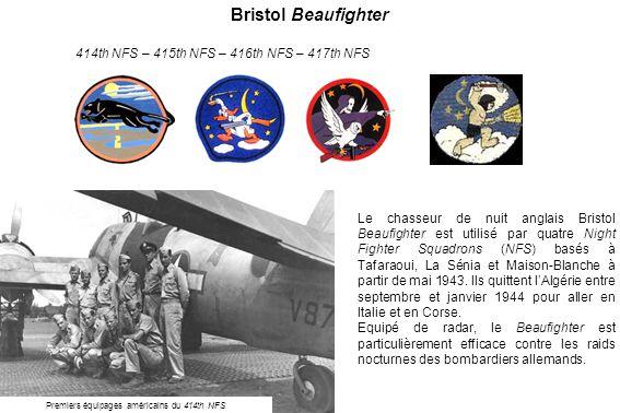 Premiers équipages américains du 414th NFS