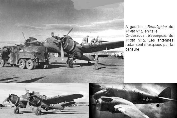 A gauche : Beaufighter du 414th NFS en Italie