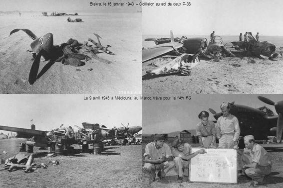 Biskra, le 15 janvier 1943 – Collision au sol de deux P-38