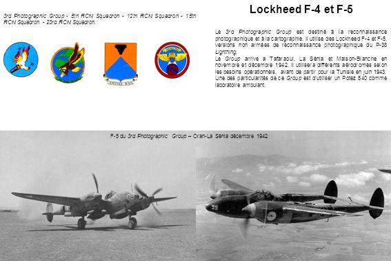F-5 du 3rd Photographic Group – Oran-La Sénia décembre 1942