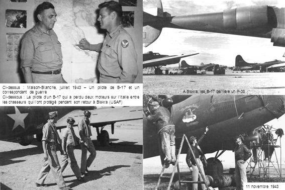 A Biskra, les B-17 derrière un P-38