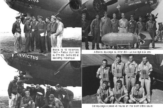 A Biskra, équipage du 301st BG – Le plus âgé a 24 ans