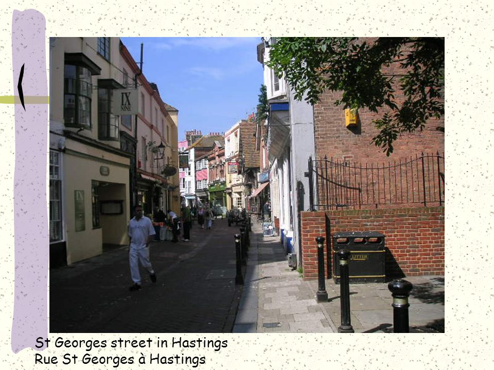 St Georges street in Hastings Rue St Georges à Hastings
