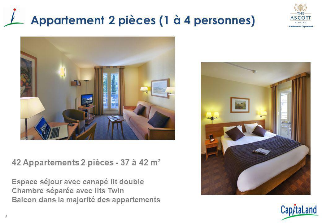 Appartement 2 pièces (1 à 4 personnes)