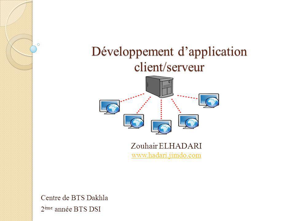 Développement d'application client/serveur