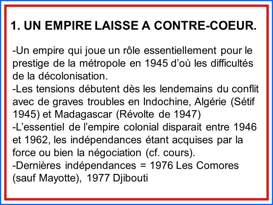 1. UN EMPIRE LAISSE A CONTRE-COEUR.