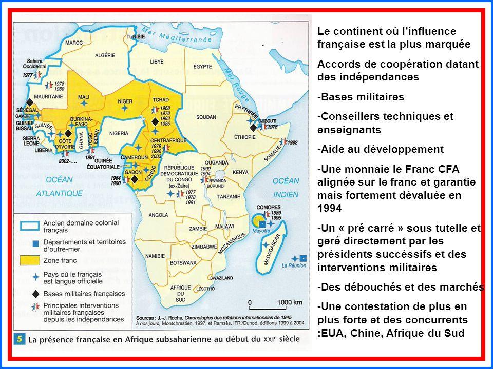 Le continent où l'influence française est la plus marquée