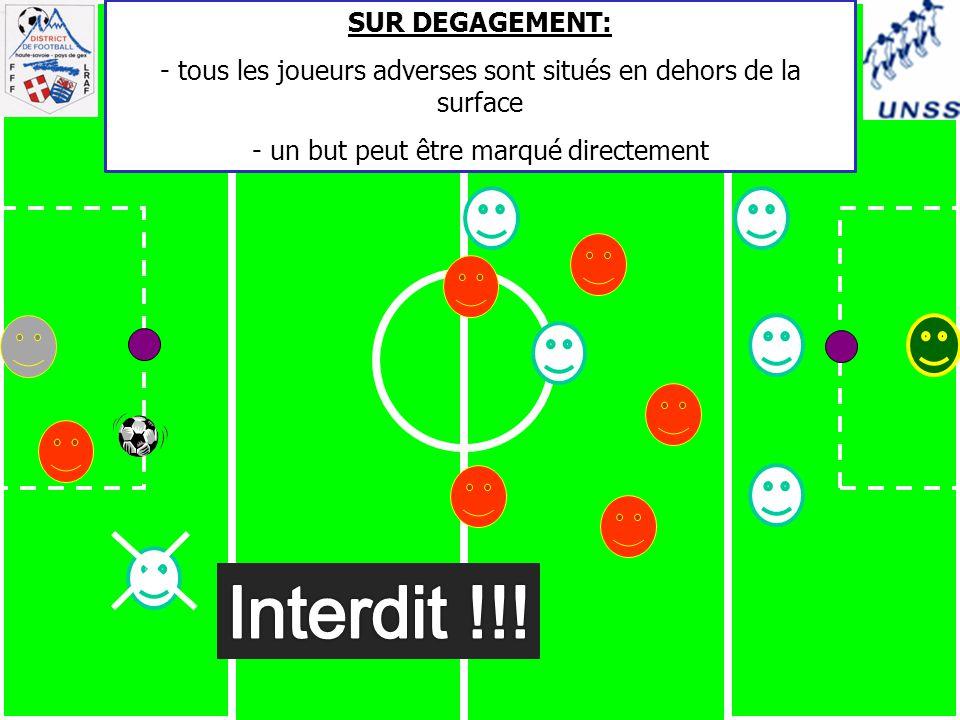 Interdit !!! SUR DEGAGEMENT: