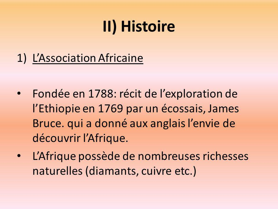 II) Histoire L'Association Africaine
