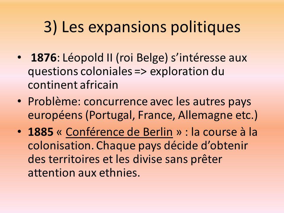 3) Les expansions politiques
