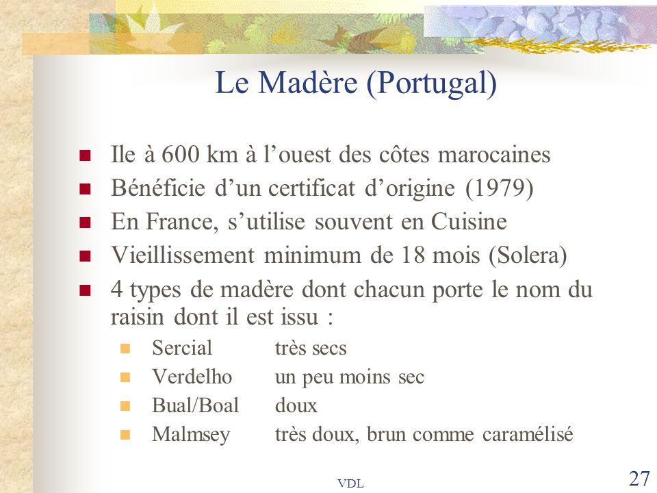 Le Madère (Portugal) Ile à 600 km à l'ouest des côtes marocaines