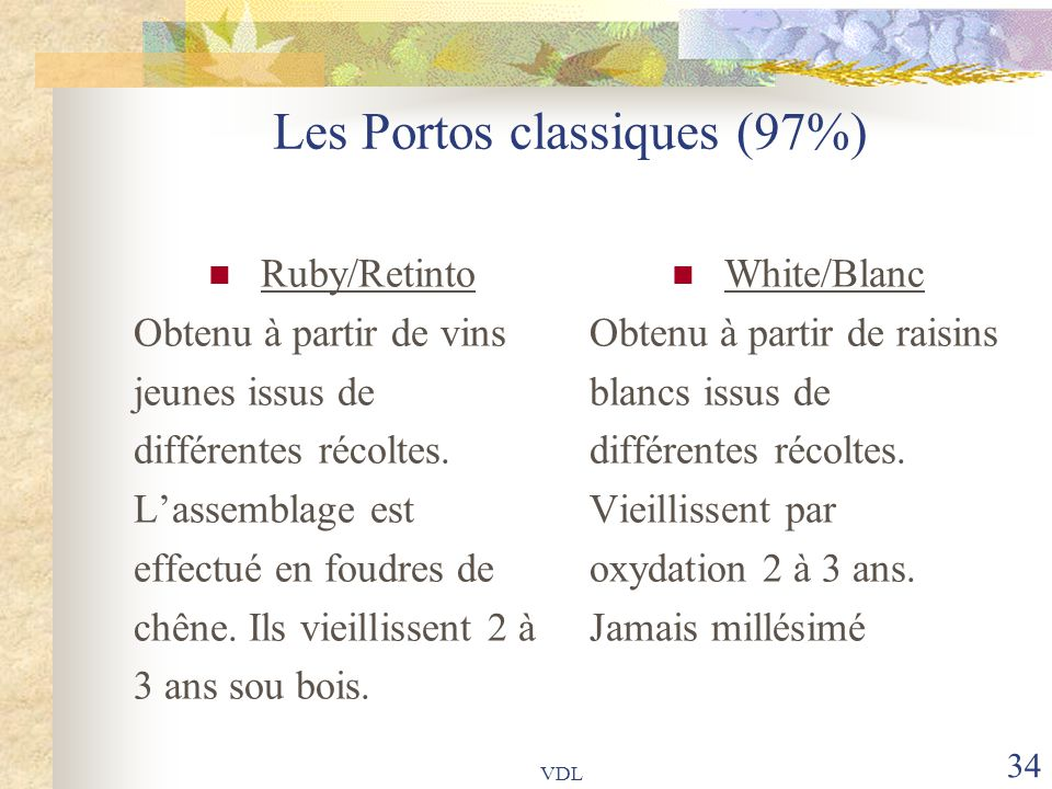 Les Portos classiques (97%)