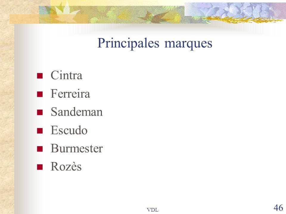 Principales marques Cintra Ferreira Sandeman Escudo Burmester Rozès