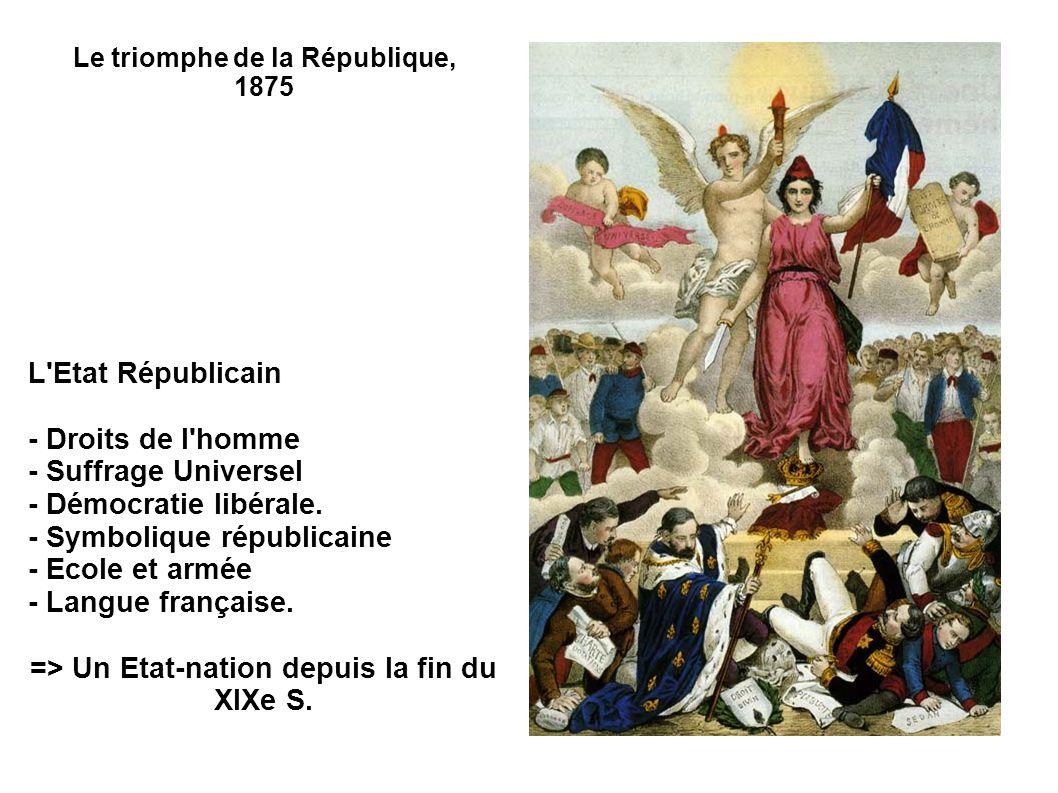 => Un Etat-nation depuis la fin du XIXe S.