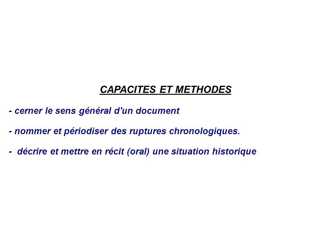 CAPACITES ET METHODES - cerner le sens général d un document