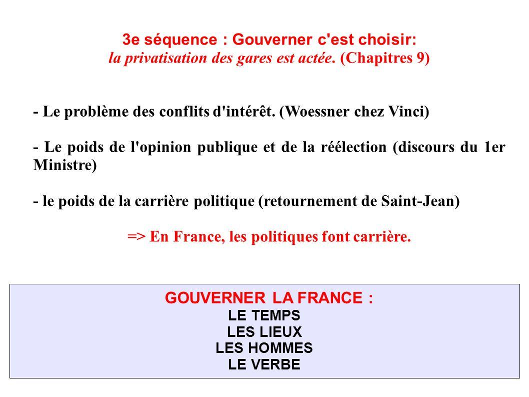 3e séquence : Gouverner c est choisir: