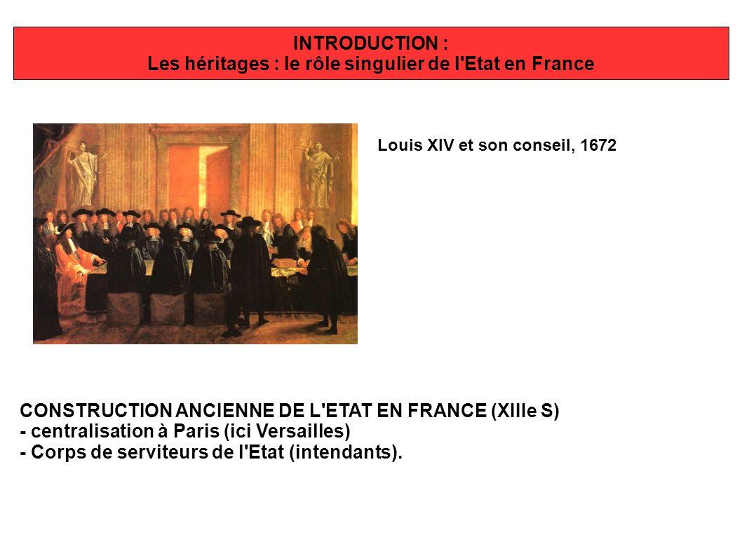 Les héritages : le rôle singulier de l Etat en France