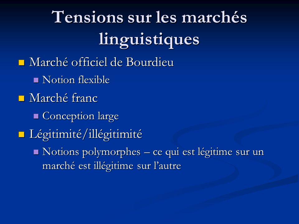 Tensions sur les marchés linguistiques