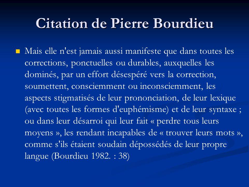 Citation de Pierre Bourdieu