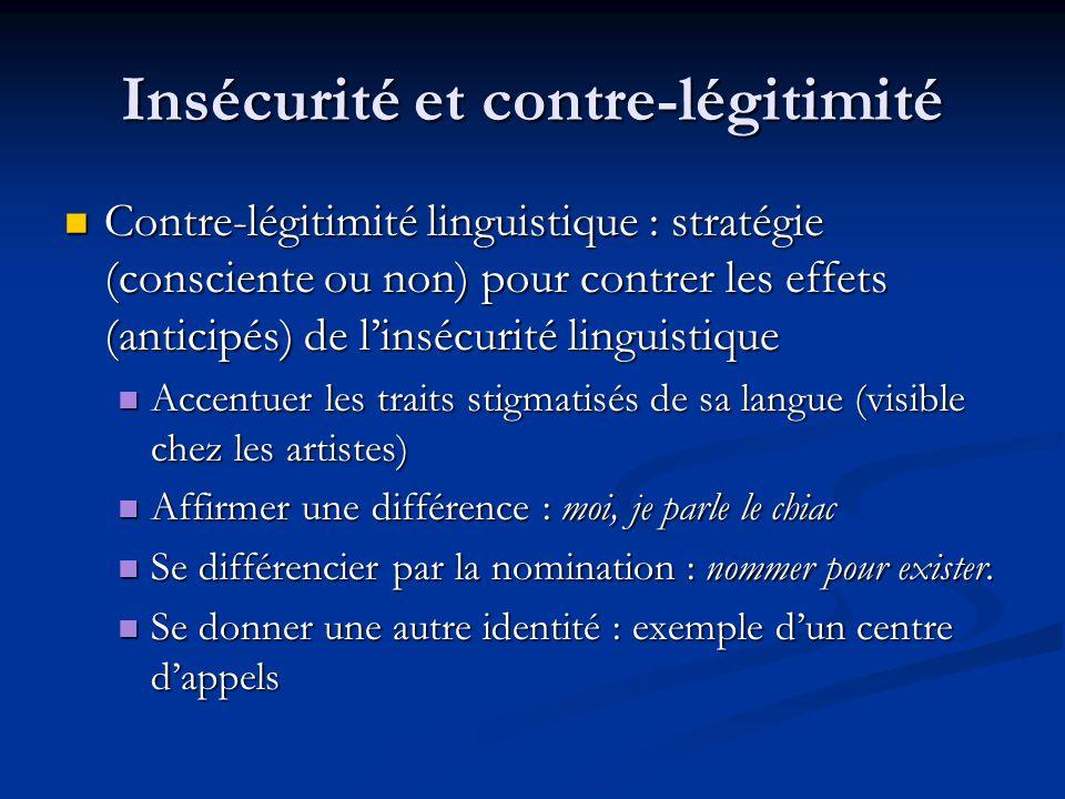 Insécurité et contre-légitimité
