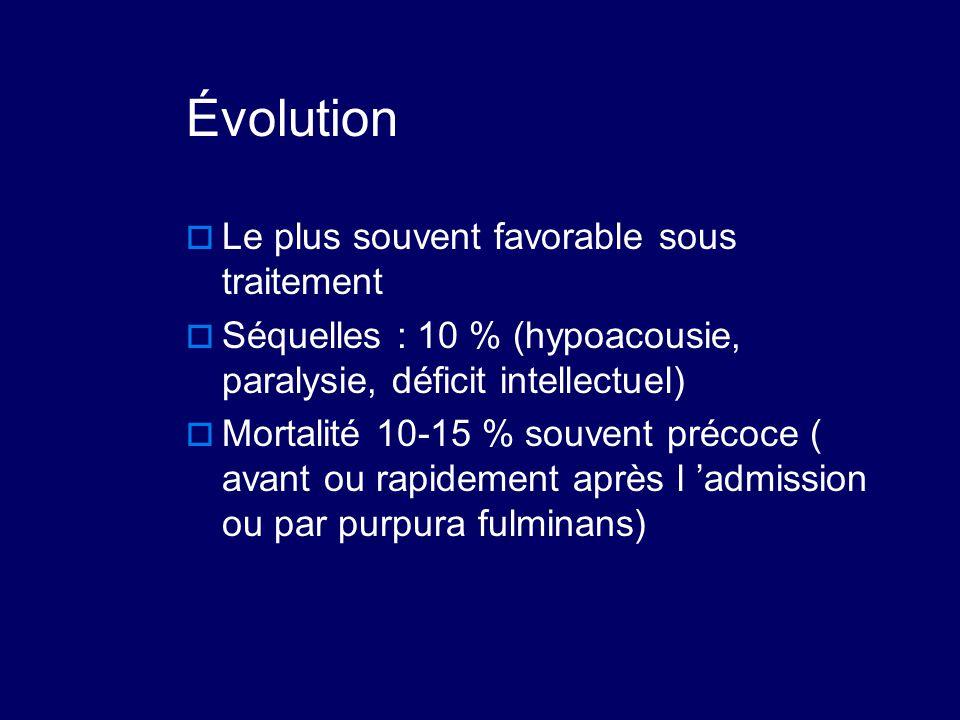 Évolution Le plus souvent favorable sous traitement