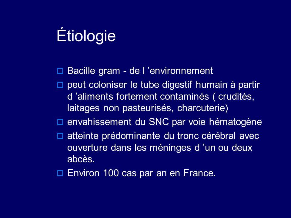 Étiologie Bacille gram - de l 'environnement