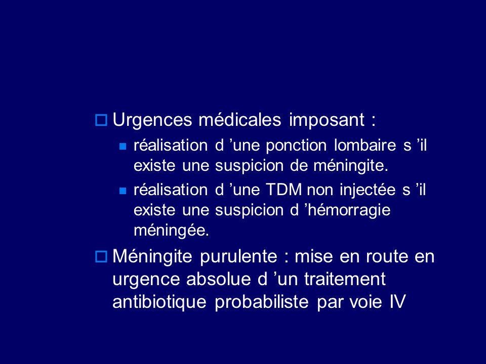 Urgences médicales imposant :