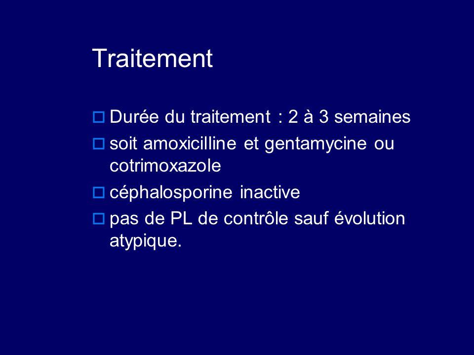 Traitement Durée du traitement : 2 à 3 semaines