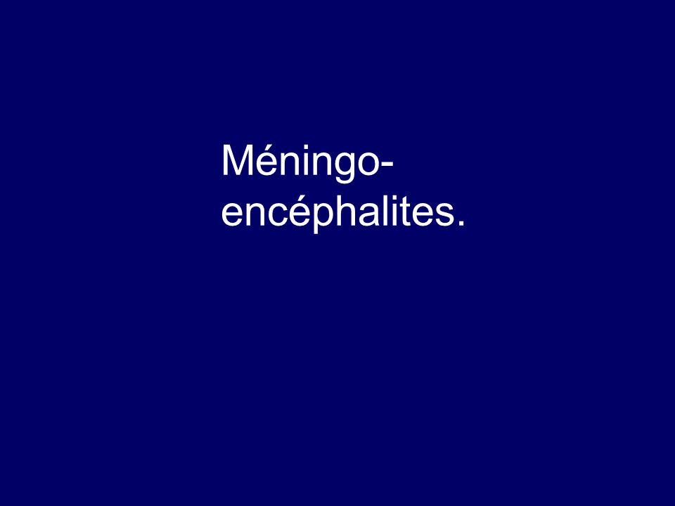 Méningo-encéphalites.