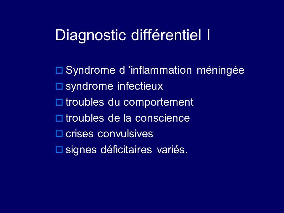 Diagnostic différentiel I