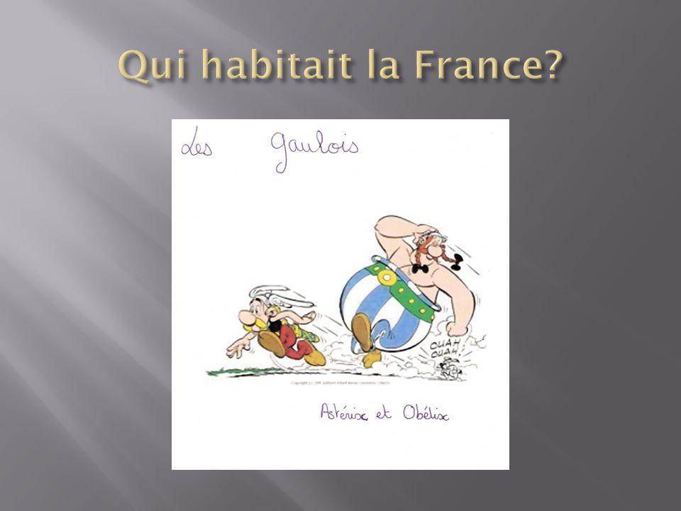Qui habitait la France