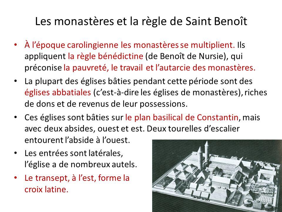 Les monastères et la règle de Saint Benoît