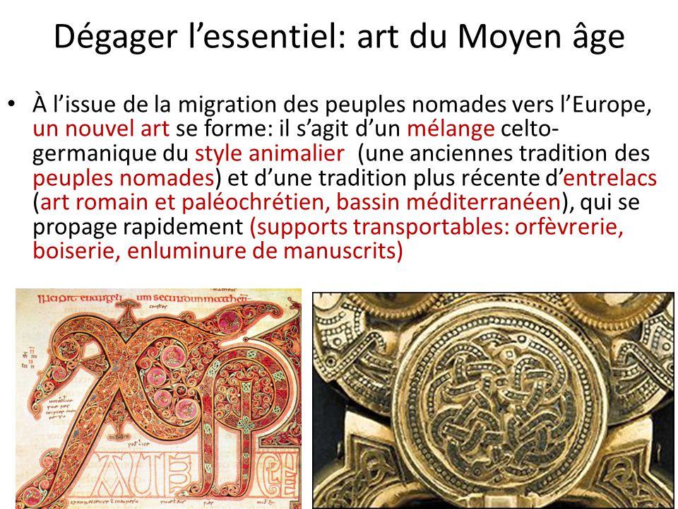 Dégager l'essentiel: art du Moyen âge