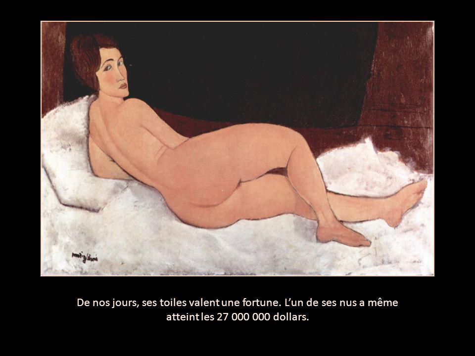 De nos jours, ses toiles valent une fortune