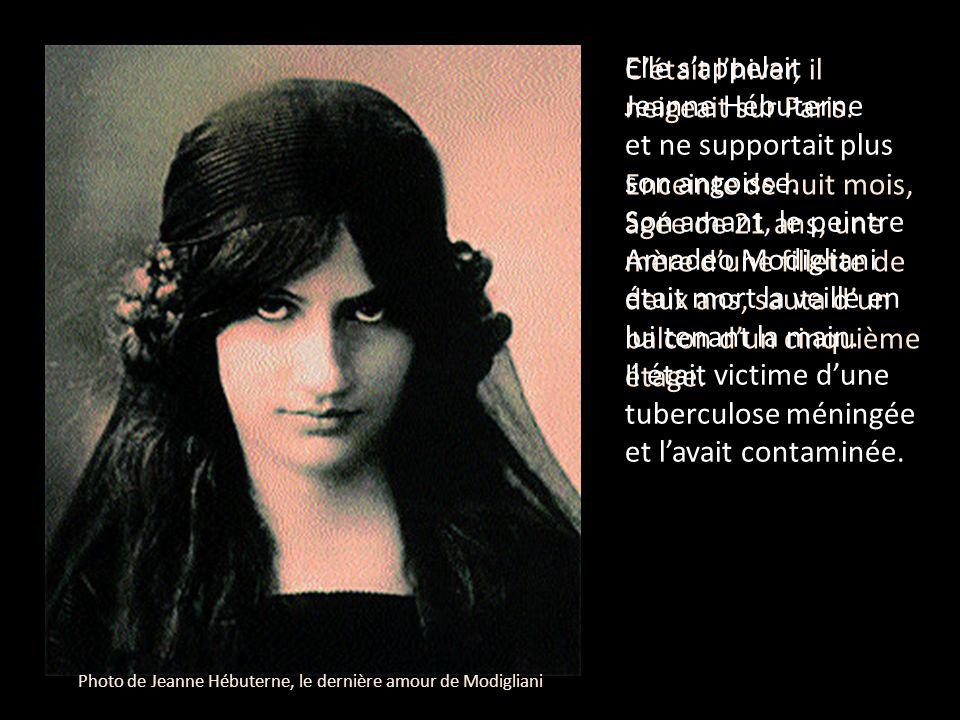 Photo de Jeanne Hébuterne, le dernière amour de Modigliani