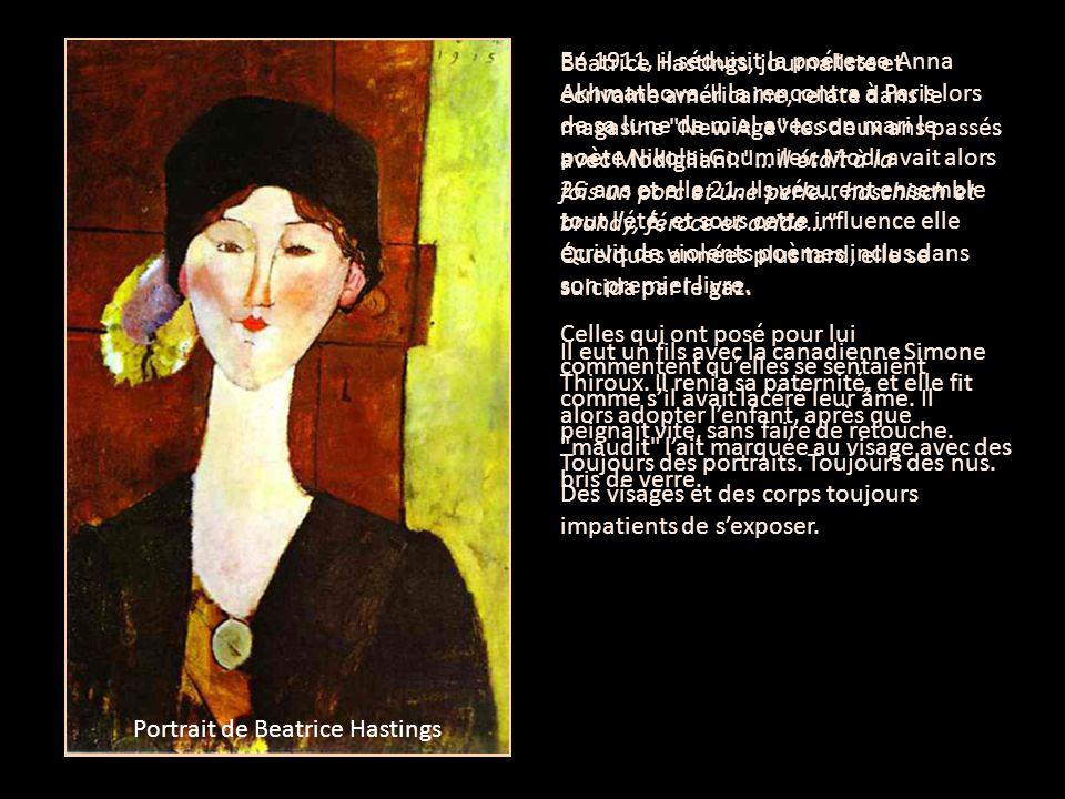 Portrait of Anna Akhmatova Portrait de Beatrice Hastings