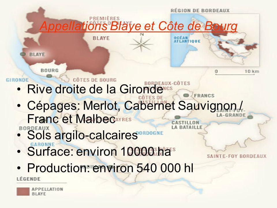Appellations Blaye et Côte de Bourg