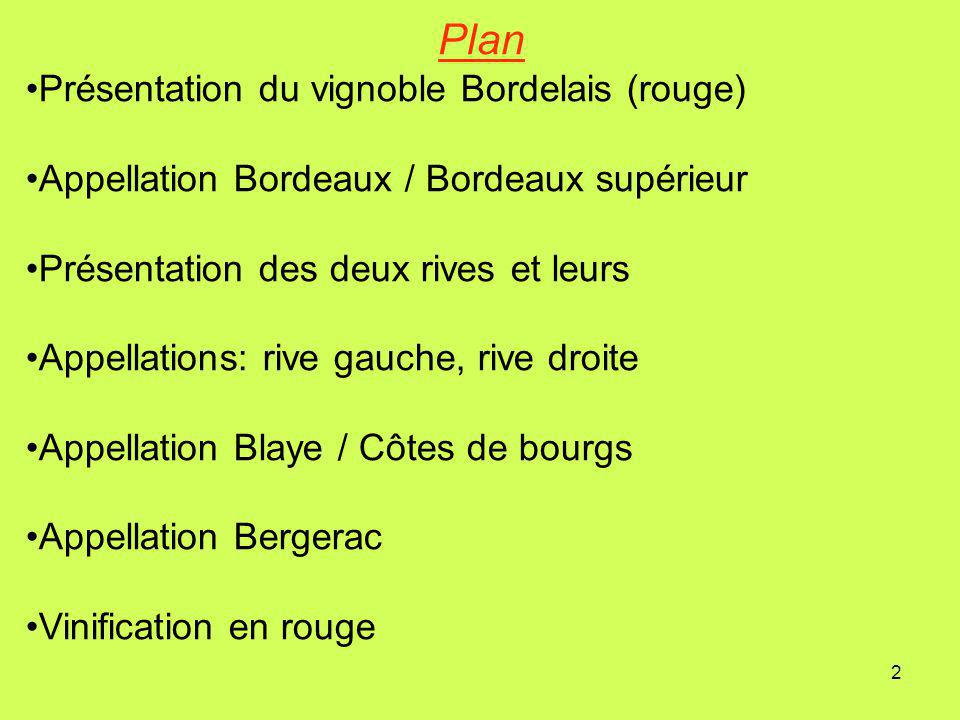Plan Présentation du vignoble Bordelais (rouge)