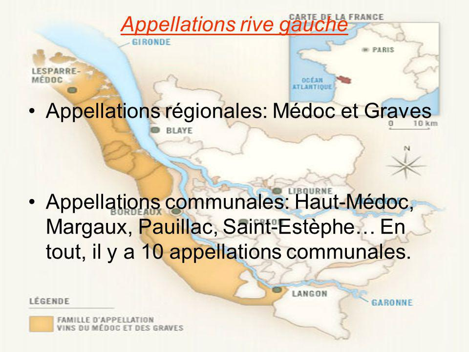 Appellations rive gauche