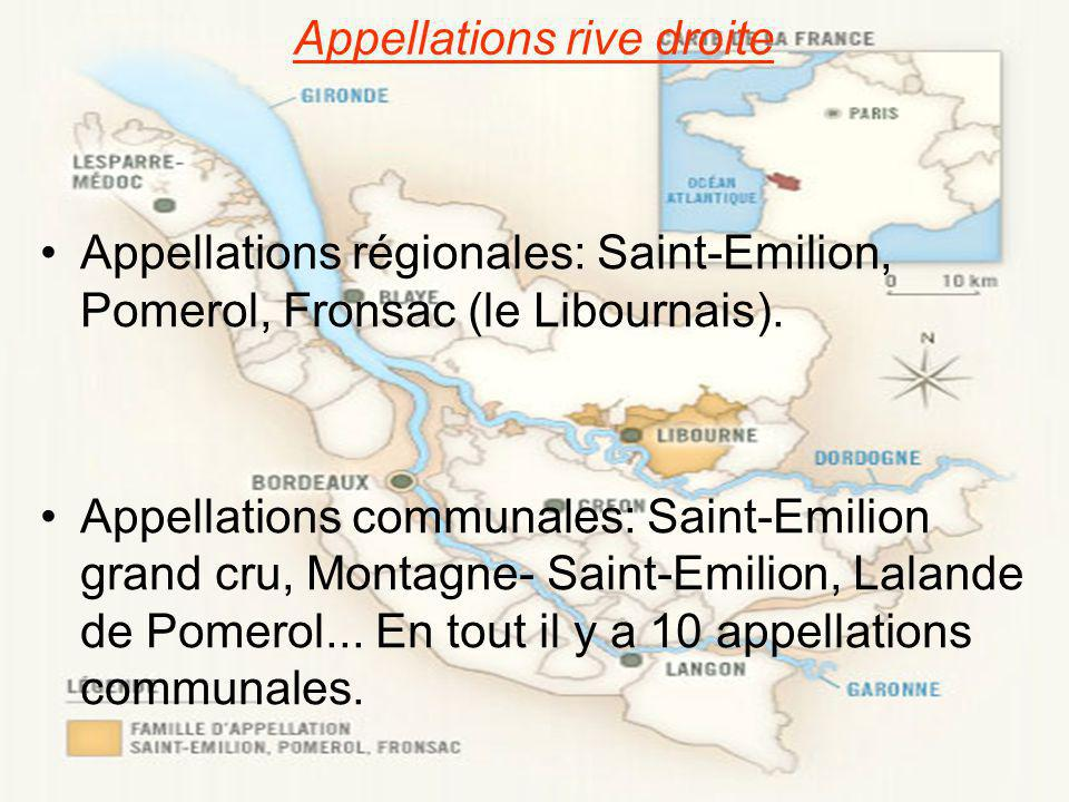 Appellations rive droite