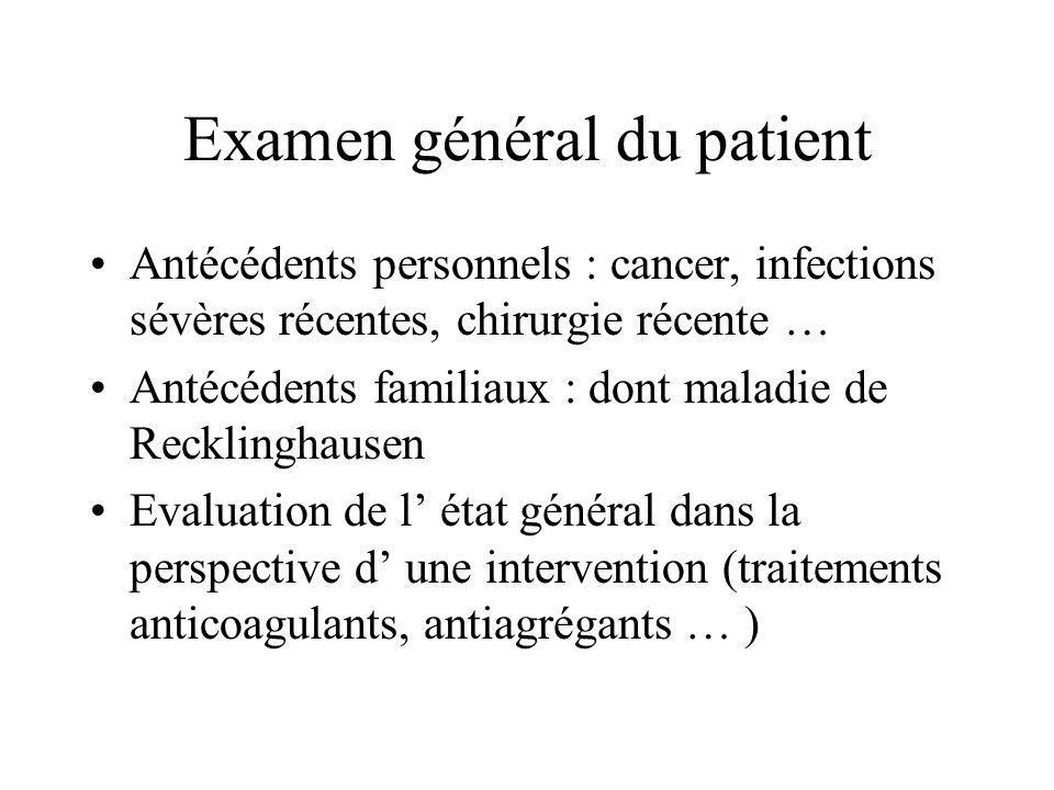 Examen général du patient