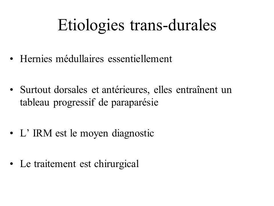 Etiologies trans-durales