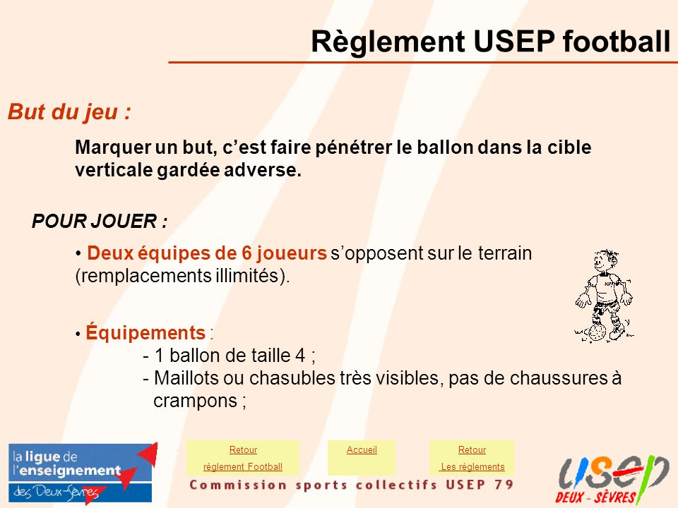 Règlement USEP football