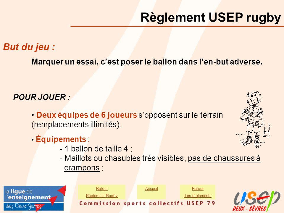Règlement USEP rugby But du jeu :