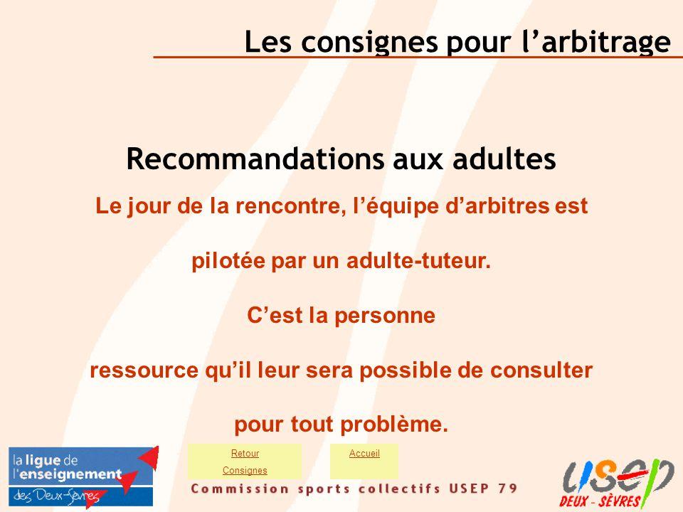 Recommandations aux adultes