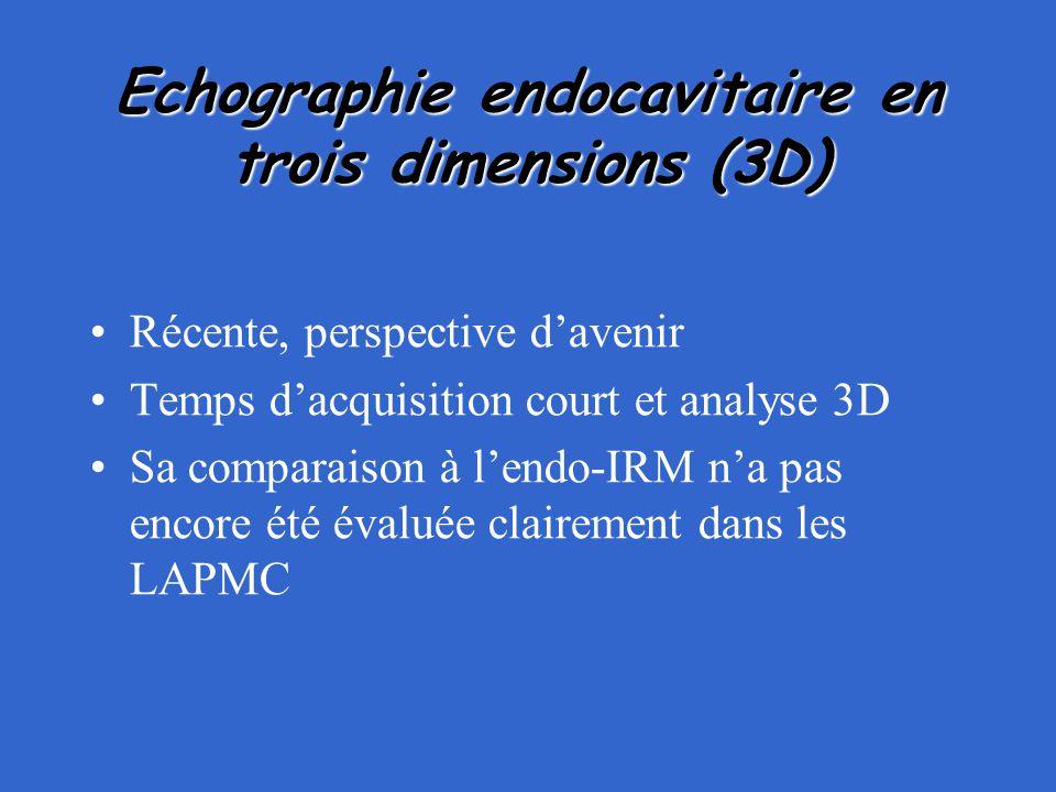 Echographie endocavitaire en trois dimensions (3D)