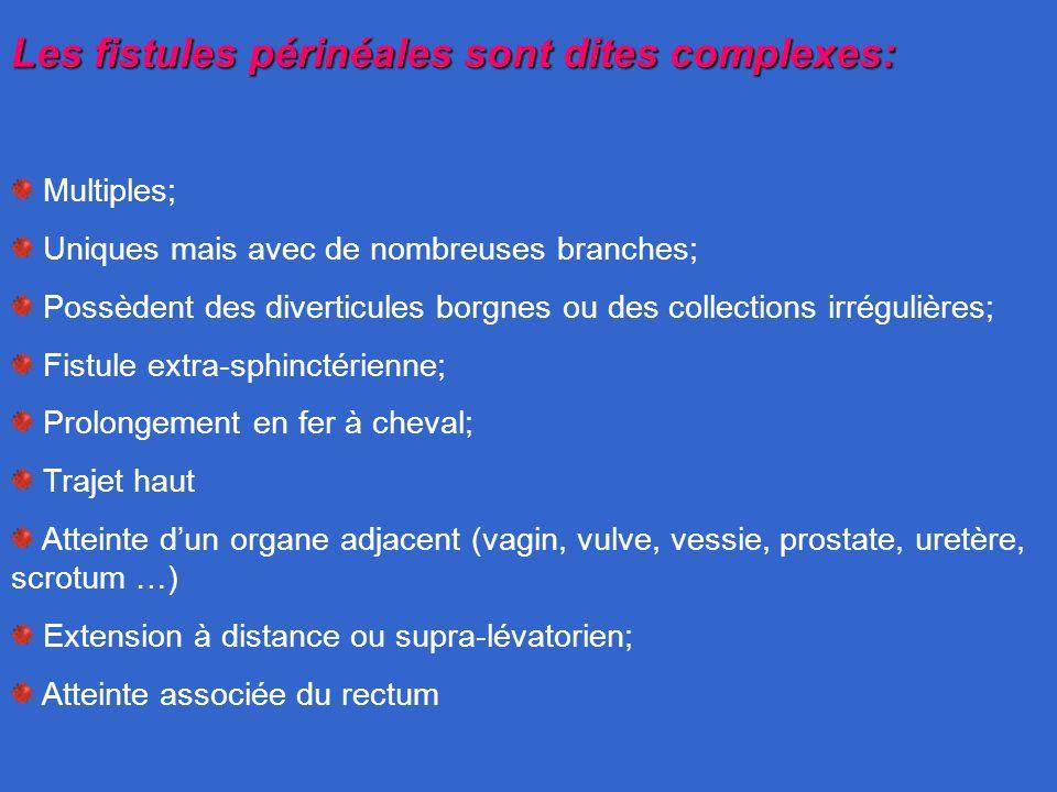 Les fistules périnéales sont dites complexes: