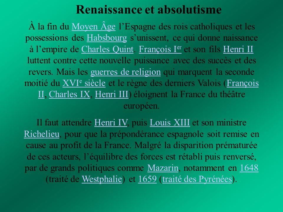 Renaissance et absolutisme