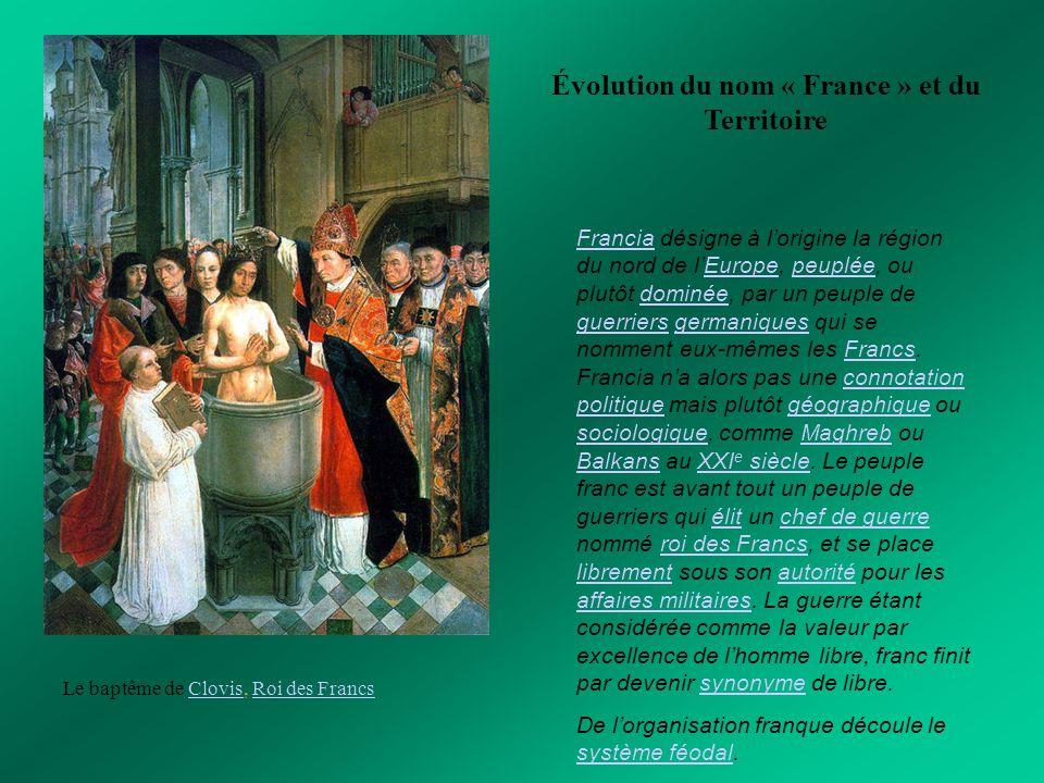 Évolution du nom « France » et du Territoire
