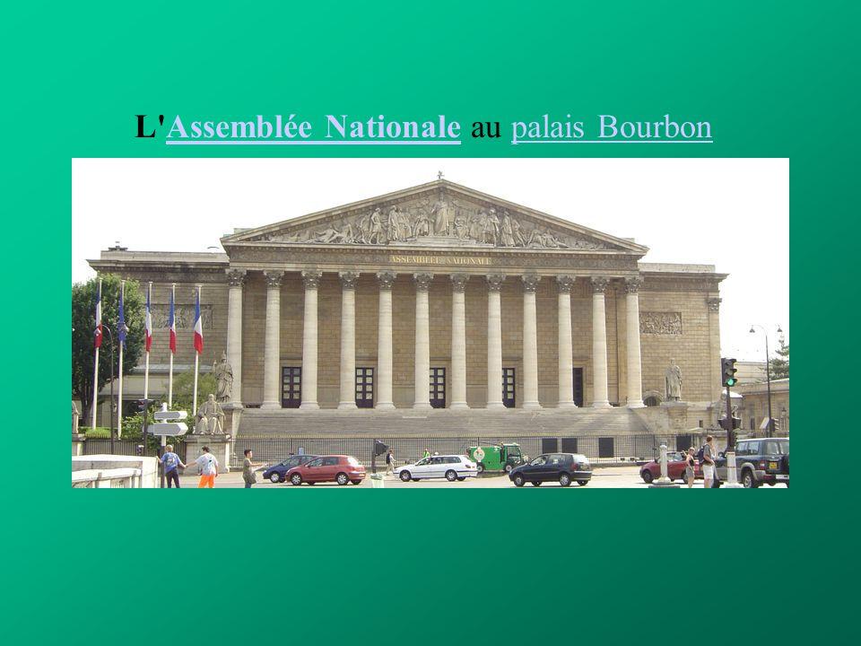 L Assemblée Nationale au palais Bourbon